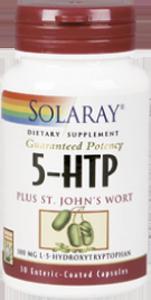 5-HTP Hidroxitriptófano con hierba de San Juán 30 cáps de Solaray