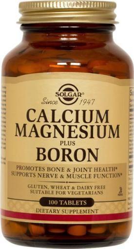 Calcio + Magnesio + Boro 100 comprimidos de Solgar