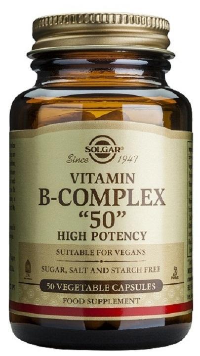 """Vitamina B-Complex """"50"""" de Solgar, complejo de vitaminas B"""