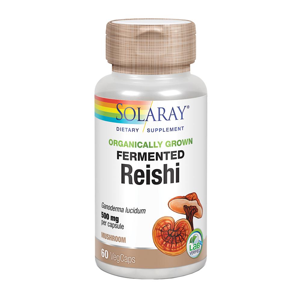 Solaray Hongo Reishi fermentado 500 mg 60 cápsulas vegetales