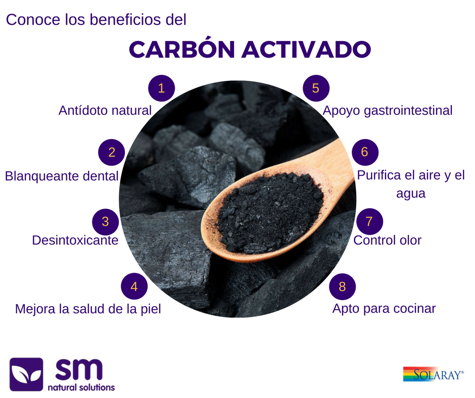 Carbón vegetal Solaray