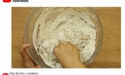 Videoreceta para elaborar pan de lino y centeno por El Granero Integral