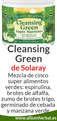 Solaray Cleansing Green 20 tomas de Solaray