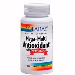 Mega-Multi Antioxidant with Very Berry 60 cápsulas de Solaray